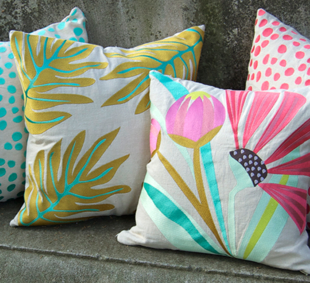 Chenille pillows